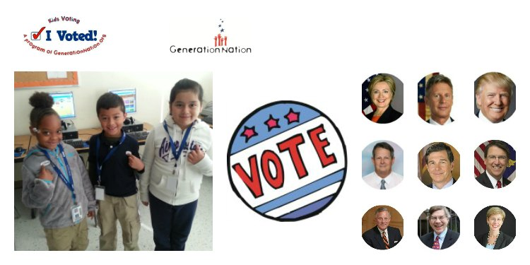 I Voted! K-12 students read, think, decide and vote in Election 2016
